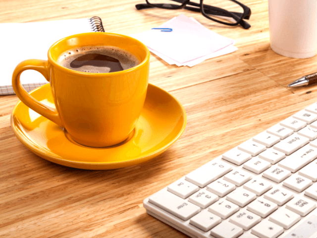 Tax Preparation Checklist with nice mug of coffee and computer. #taxtips #taxplanning