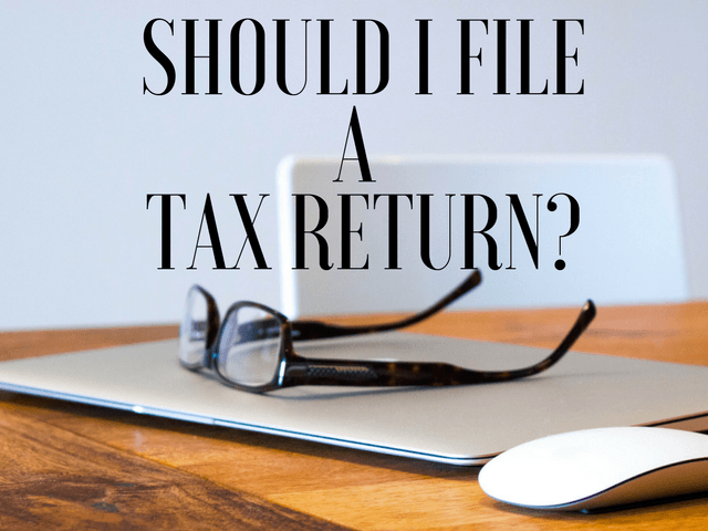 when to file a tax return