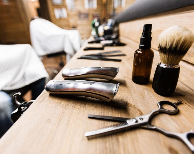 Tax Deductions for barbers with tools on the counter.